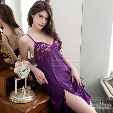 AnnaMu Plus Size Purple Babydoll NY14020095