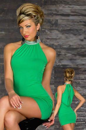 Sexy Stretchy Clubwear Green 10-9314